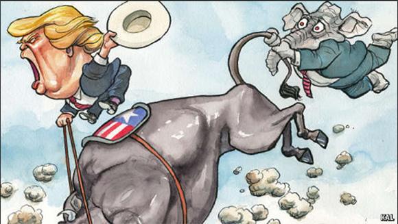 Trump riding bull