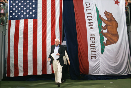 Bernie in Cali
