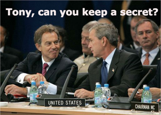 Bush and Tony keep a secret